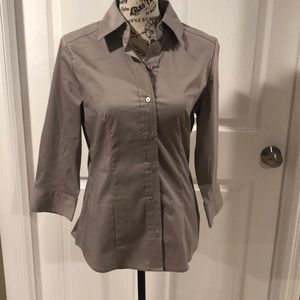 New York & Co taupe colored shirt size S
